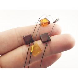 Collier d'ambre fil perles...