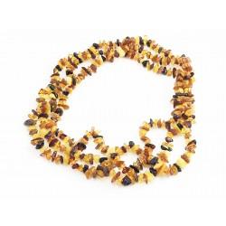 Sautoir d'ambre multicolore